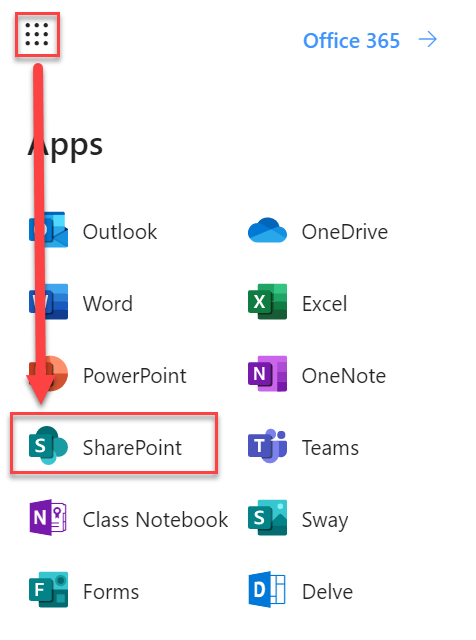 Image of Office 365 App icons