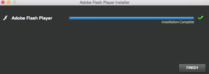 Adobe Flash Player has been installed successfully