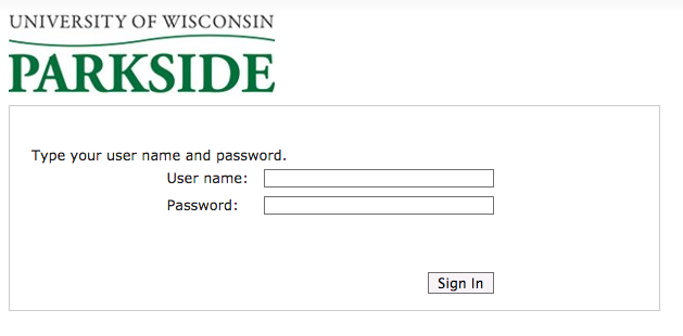 Student email login page