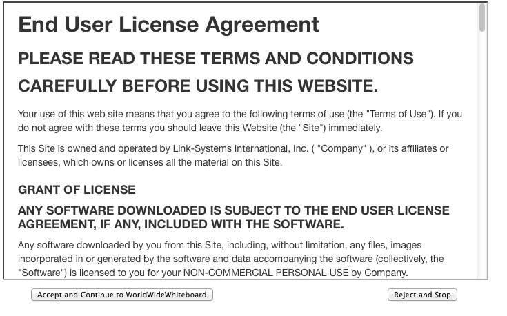 license agreement for NetTutor