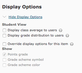Show Display Options menu under New Category.