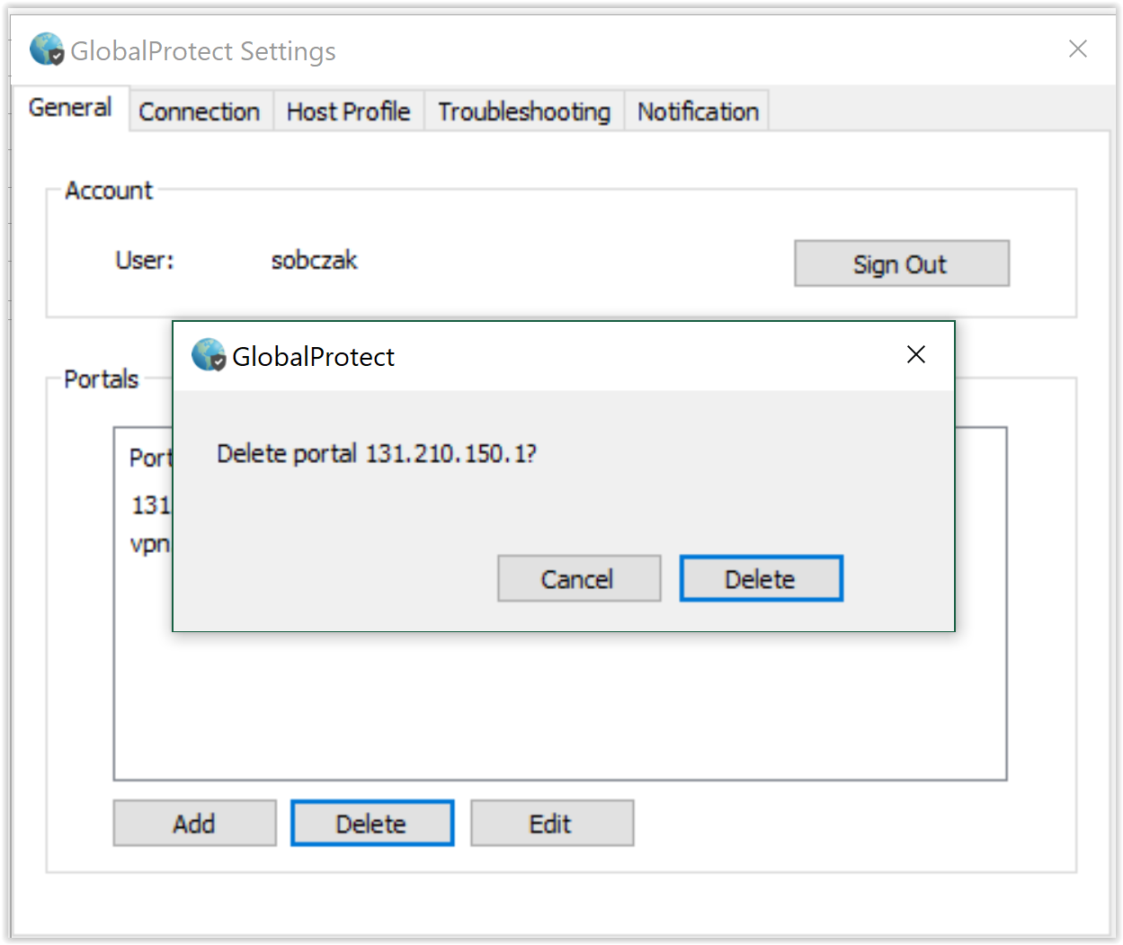 VPN - Updating the GlobalProtect Client