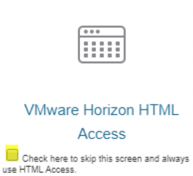 VMware Horizon HTML Access