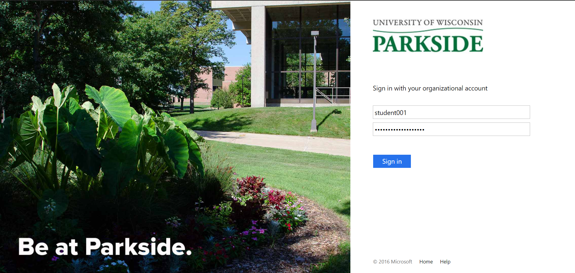 UWP Sign In Screen