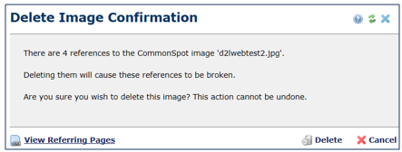 Delete Image Confirmation window