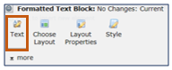 Formatted Text Block menu