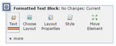 Formatted Text Block context menu