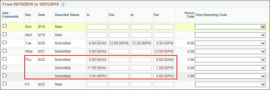 Timesheet Multiple Shifts Same Day